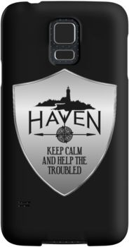 Haven Syfy Inspired Phone Cases/Skins | Haven Keep Calm Silver Badge Logo | Snap Cases,Tough Cases, & Skins for Galaxy S3-S4-S5-S6-S6 Edge-S6 Edge Plus-S7-S7Edge | iPhone 4s/4 5c/5s/5 6/6Plus SE/5s/5 & iPhone Wallets **All designs available for all models.