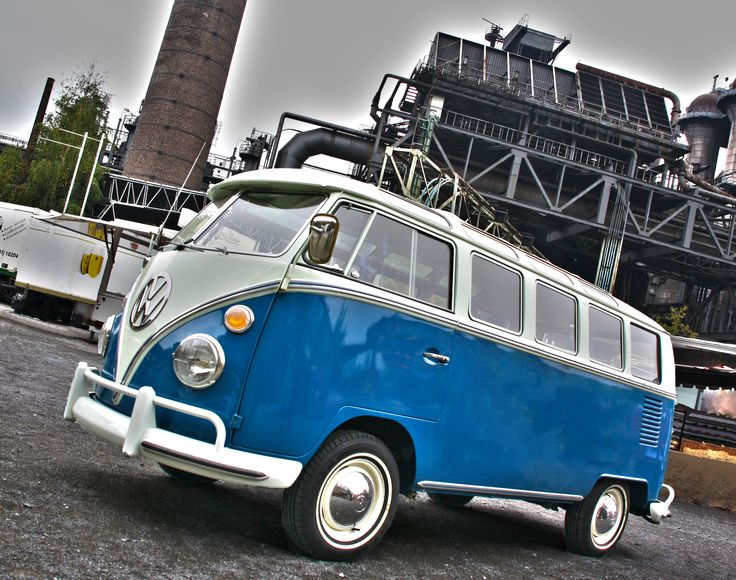 Volkswagen T2 Microbus Deluxe model 244 | first built in 1951 | splitting the windshield and
