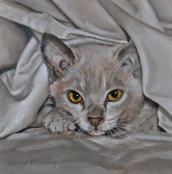 Bed Warmer - Oil Painting by AstridBruning on DeviantArt