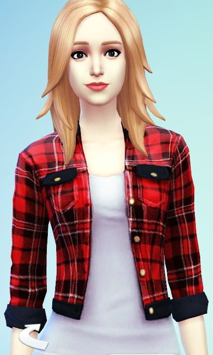 Sims 4 red dress vest