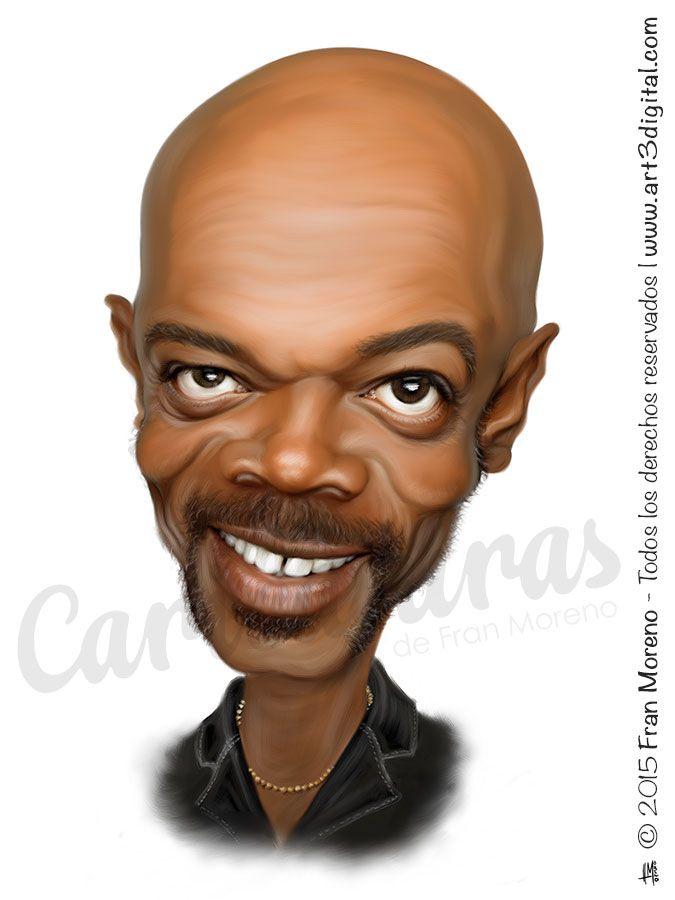 Caricatura del actor Samuel L. Jackson - Arte Digital por Fran Moreno
