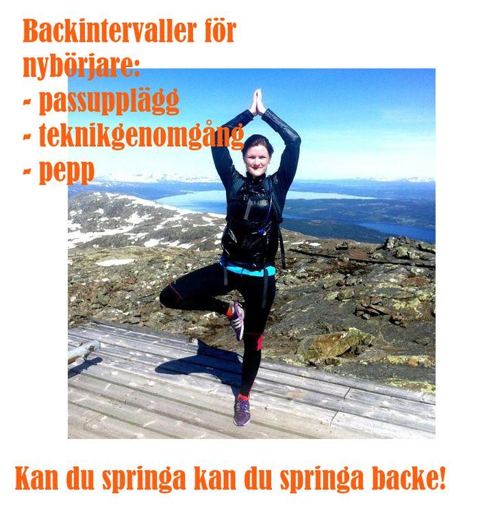 backintervaller för nybörjare - alla, även nybörjare kan! #löpning #träning