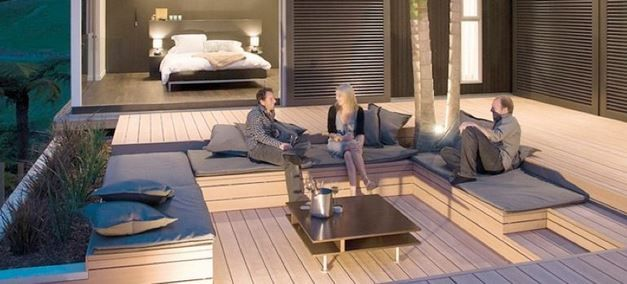 deck covering with wood plastic ,polypropylene building hollow decking material