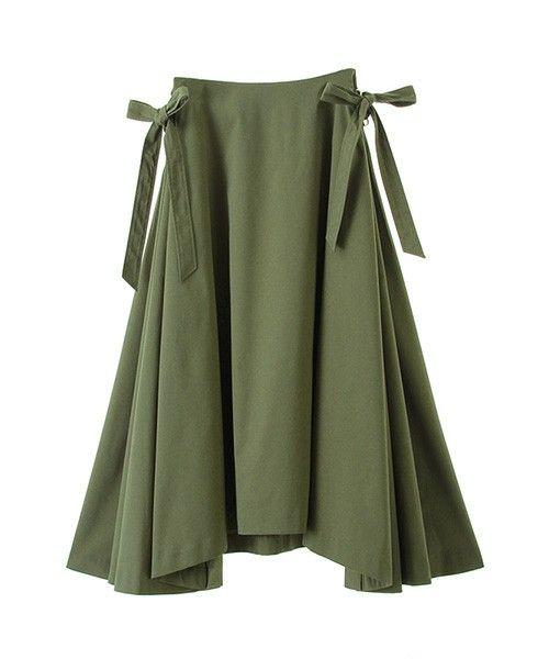 The Virgnia(ザ ヴァージニア)の「サイドレースアップフレアスカート(スカート)」 グリーン