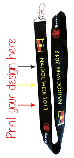 Aboriginal themed Printed Lanyards. The perfect item for your event! Call 0408 783 063 or email enquiries@promocorner.com.au for more info.