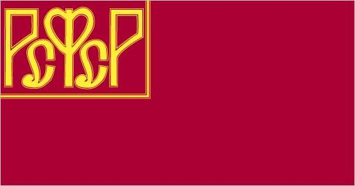 Russian Revolution in 1917. This is the first Bolshevik national flag.