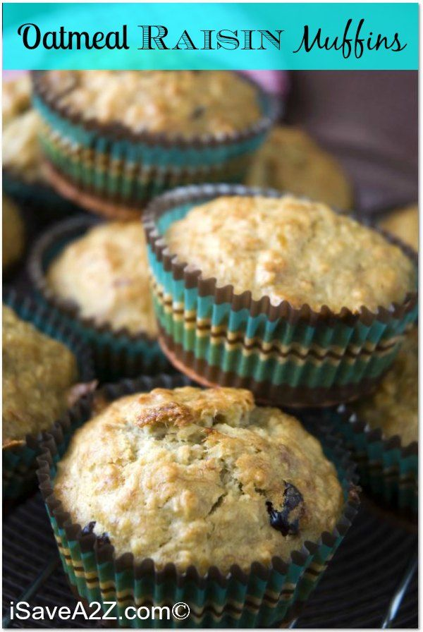 Oatmeal Raisin Muffins Recipe! Only 4 points on Weight Watchers!