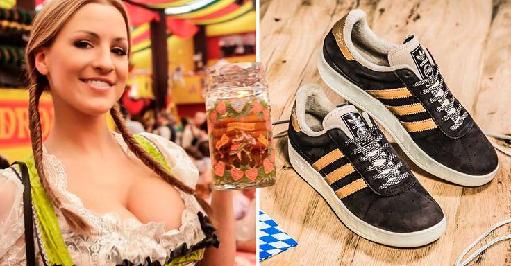 Adidas ha diseñado unos zapatos tenis especiales para el Oktoberfest y por supuesto para todo amante de jornadas maratónicas de ingestión de cerveza; los tenis tienen un repelente de cerveza y vómito. El modelo clásico München es perfecto para el Oktoberfest que está cada vez más cerca. Para