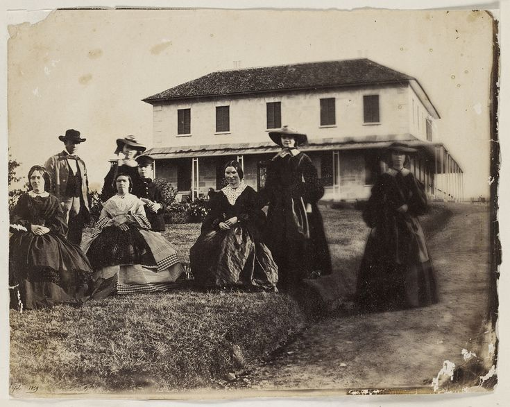 Rouse family and others, Rouse Hill House, 1859 / photographer Major Thomas Wingate