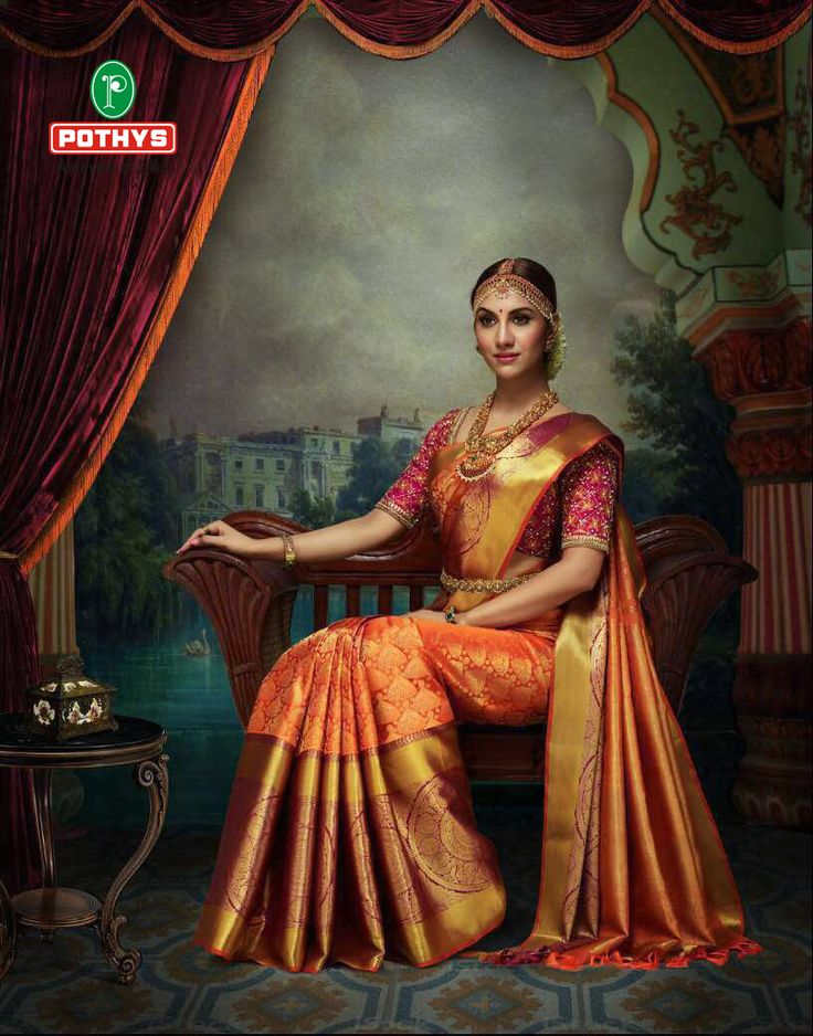 An exclusive collection from silk sarees at Pothys.