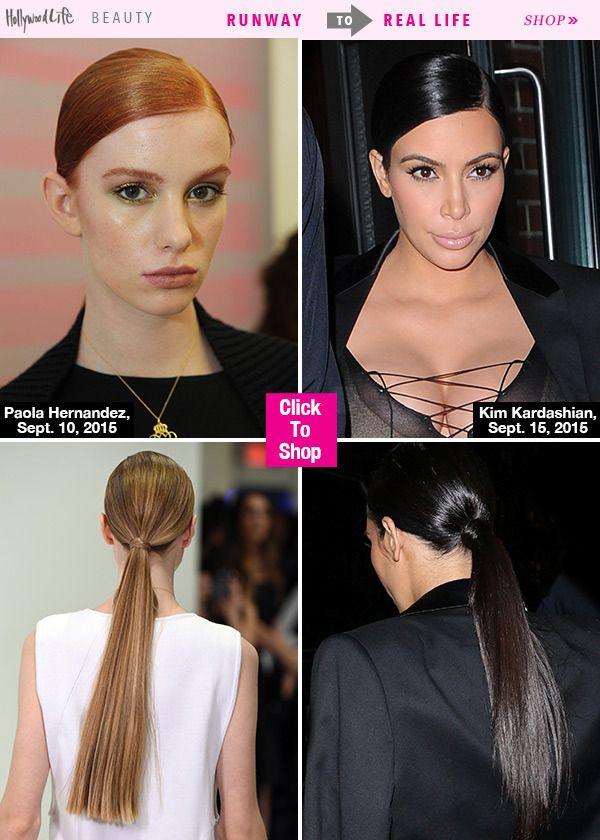 Sleek, Low Ponytail — Get Kim Kardashian's Exact HairLook