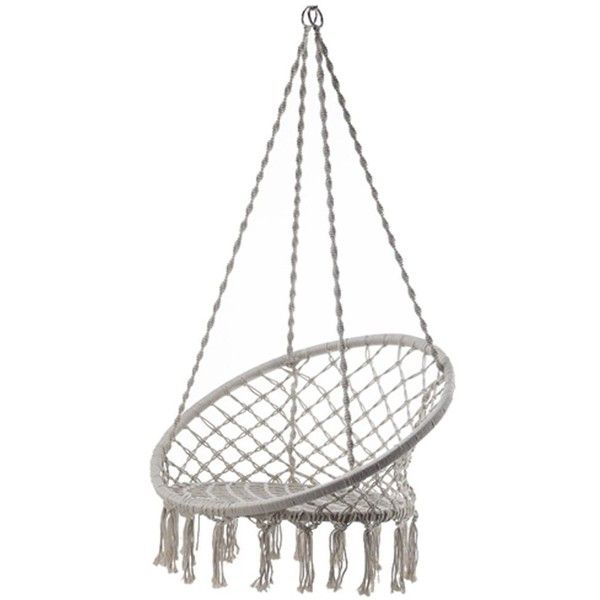 Outdoor Cotton Rope Patio Garden Hammock Chair Swing Max Weight 260... ($89) ❤ liked on Polyvore featuring home, outdoors, patio furniture, hammocks & swings, garden swing, outdoor patio swing, outdoor swing, outside swing and rope hammock swing