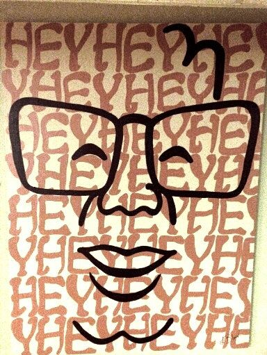 Harry Carey Hey Hey Hey. Chicago Cubs. Painting. by LucyBlunk, $300.00