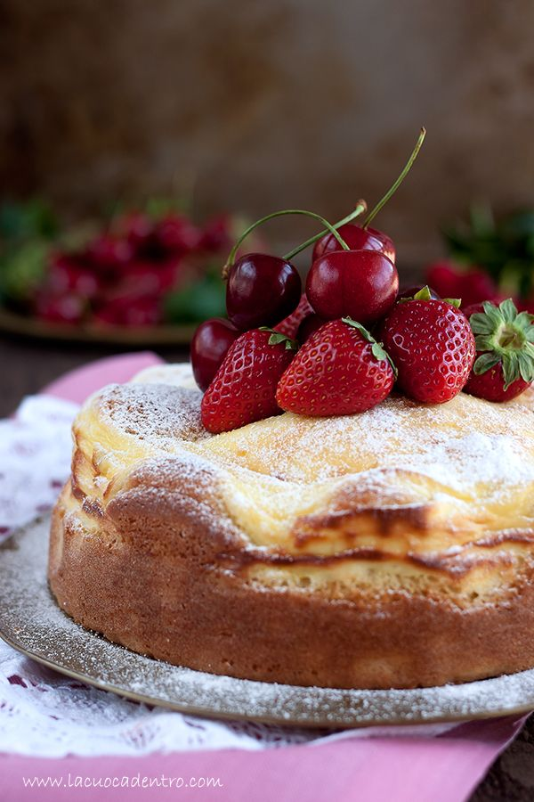 Limoncello cake with ricotta cheese