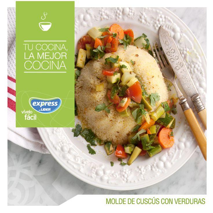 Molde de cuscús con verduras  #Recetario #Receta #RecetarioExpress  #Lider #Food #Foodporn  #Cuscús #verdura