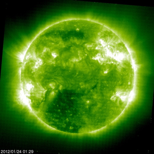 Latest image of solar flares courtesy of NASA
