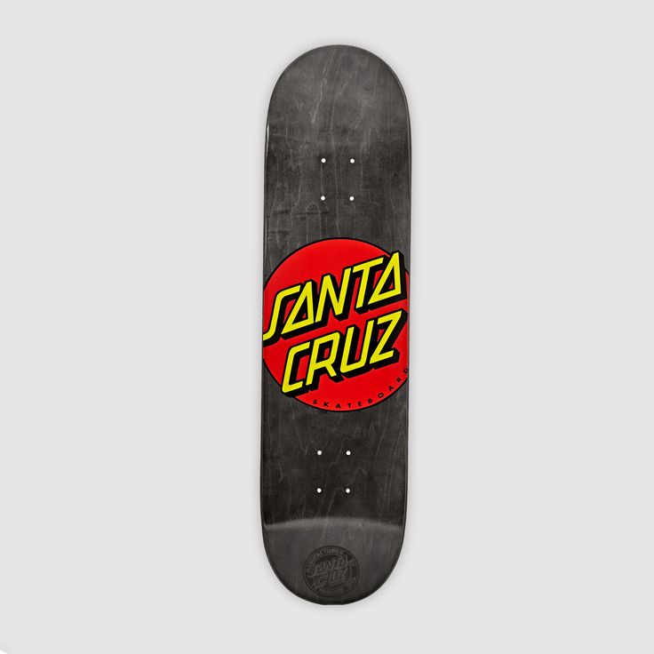 Santa Cruz Classic Dot Black Skateboard Deck. Pin-To-Win your Christmas wish list at Surfdome!