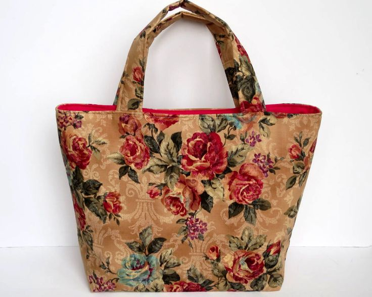Women's Tote Bag, Handmade Handbag, Vintage Style Floral Fabric, Gifts for Her, Floral Bags, Floral Gifts, Mothers Day Gift, Vintage Floral by RachelMadeBoutique on Etsy https://www.etsy.com/au/listing/576712665/womens-tote-bag-handmade-handbag-vintage
