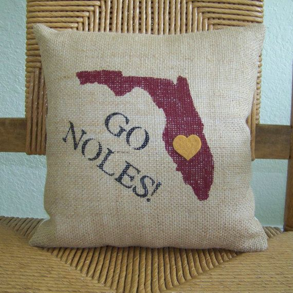 Florida State University pillow Seminoles by KelleysCollections