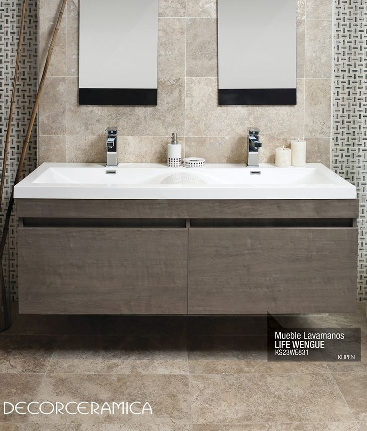 56 best muebles de ba o images on pinterest bathroom for Lavamanos dobles modernos