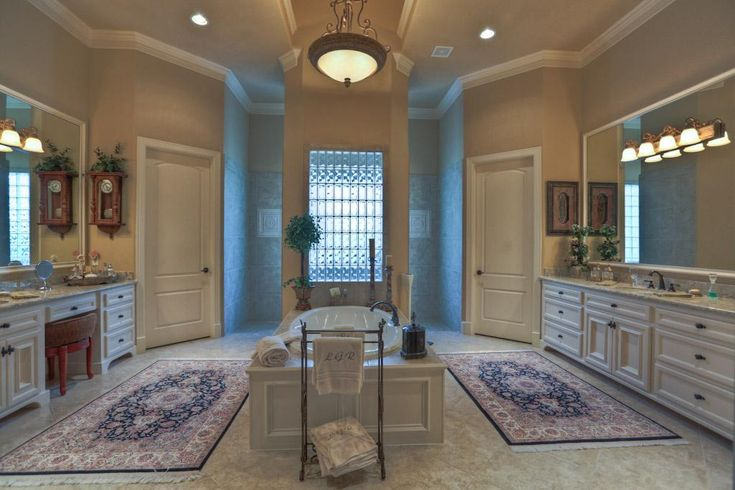 61 best master bath plans images on pinterest bathroom for Master bathroom his and hers