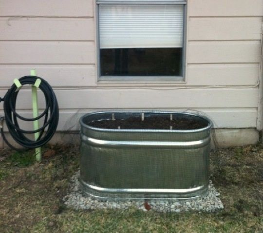 How To Build A Raised Bed in a Metal Trough