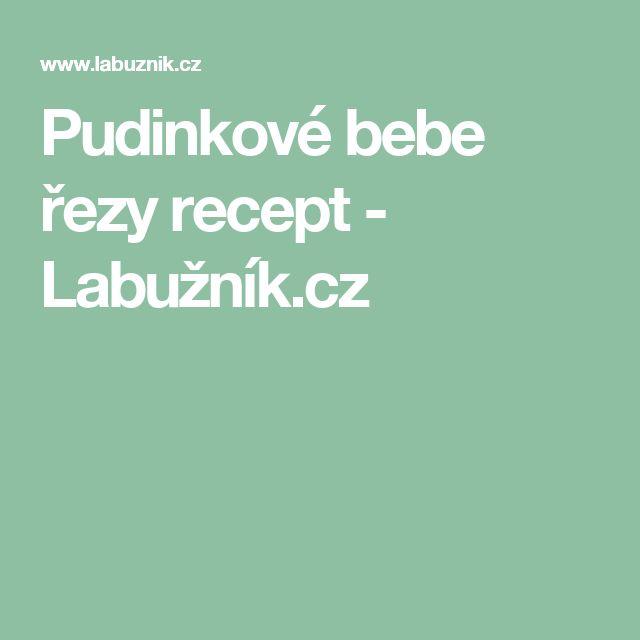 Pudinkové bebe řezy recept - Labužník.cz