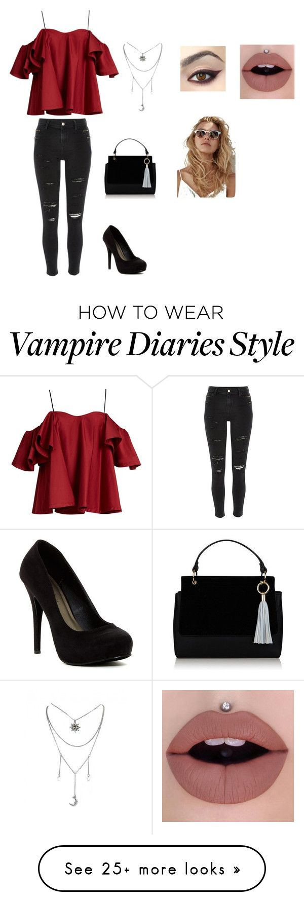 """""""Caroline Forbes inspired outfit (The Vampire Diaries)"""" by thatfashionprincess on Polyvore featuring Anna October, River Island and Michael Antonio"""