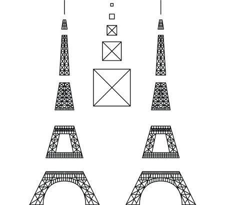 3D Pen Eiffel Tower Stencil