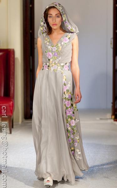 Amelie dress, hand painted, unique