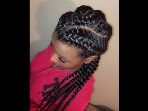 Criss Cross Goddess Braids Hairstyles Chunky Cornrow