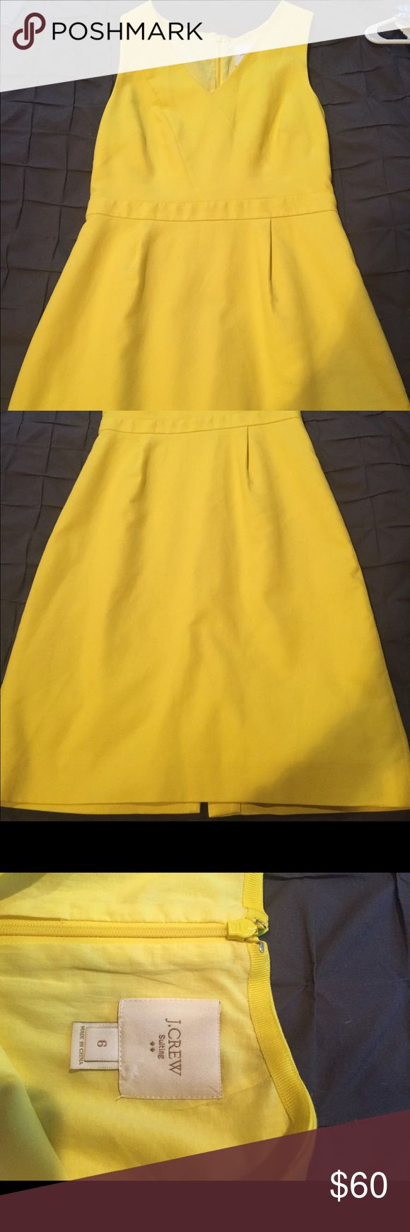 J Crew yellow dress size 6 J Crew yellow suit dress, cotton, fully lined, size 6 J. Crew Dresses