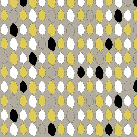 lemon fabric by pixelsnpieces on Spoonflower - custom fabric