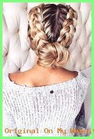 Geflochtene Frisuren – Braid hairstyle #braidedhairstylesformediumhair #braidedhairstylesfor…