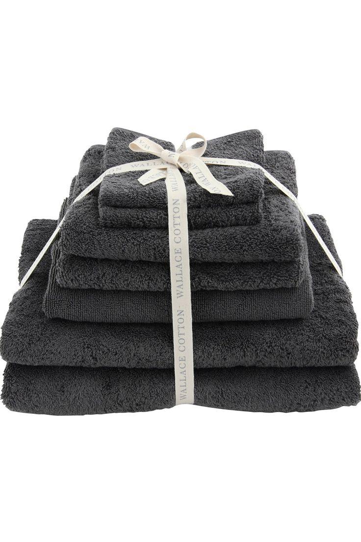 Oasis Towel Set - Wallace Cotton | Charcoal colour