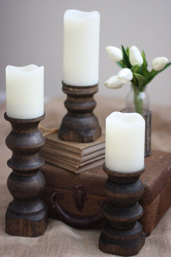 17 best images about candle holders on pinterest floor candle holders wood candle holders and - Unfinished wood candlestick holders ...