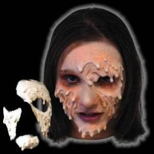 This 3 piece foam latex appliance by CFX will give you the eerie makeup effect of melted wax or a fresh burn victim this Halloween.  High quality foam latex app