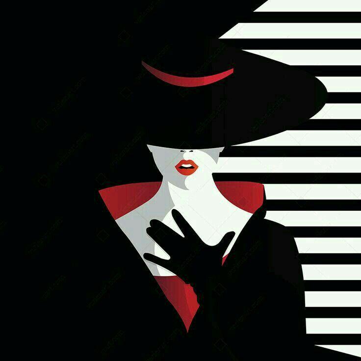 Постер девушки в шляпе