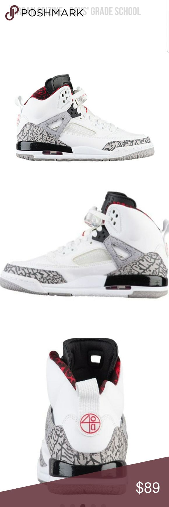 Jordan Spizike Boys Grade School sz 5 Red White New with Tags Jordan Shoes Athletic Shoes