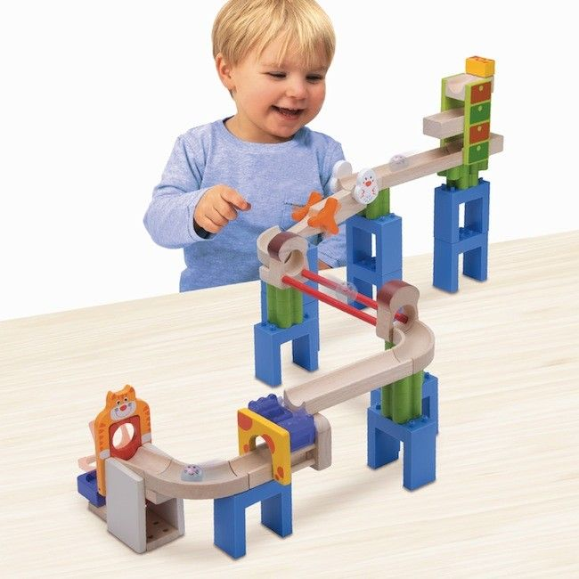 Wonderworld - Trix Track Marble Run Cat & Mouse - Building Toys - Shop I can just imagine the fun we would have building this. #EntropyWishList and #PinToWin