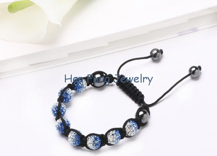 China Rhinestone Crystal Shamballa Bead Bracelets Fimo Clay Jewelry for Girls Gifts NP10069 leveranciers