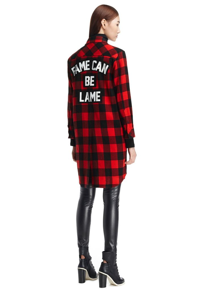 LEWITT Fame Can Be Lame Check Shirt 르윗 체크 패턴 롱 셔츠 / LEEAWBL23B view at- http://www.interviewstore.com/shop/view?goods_code=G2014120200382&goods_color=014&cate_code=0101#none