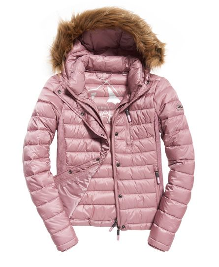 Pink quilted jacket, Superdry. FW 2017/208 Trends
