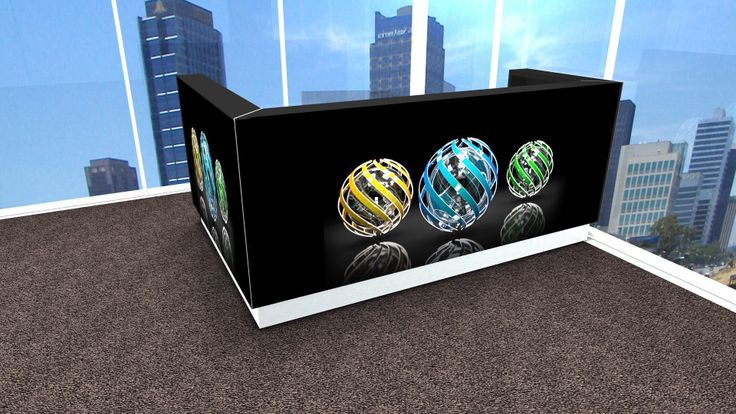 # Reception desk wit graphic. Linea by MDD.