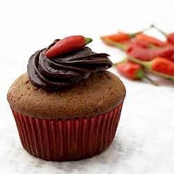 Chili Chocolate Cupcakes -- this may sound very weird but chocolate & chili make a good mix. Yummy chocolatiness with a kick!