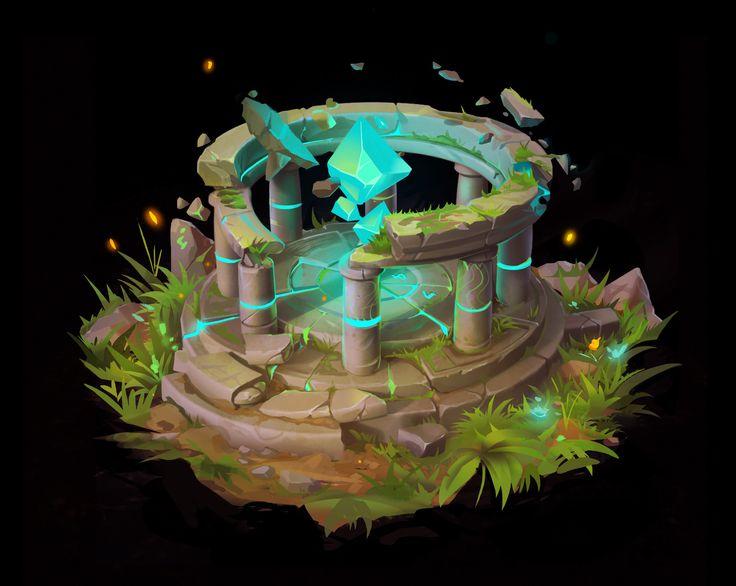 fantasy environment, Alexandr Nepogoda on ArtStation at https://www.artstation.com/artwork/kBz5x