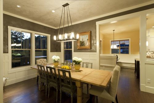 Contemporary meets craftsman Dining room.