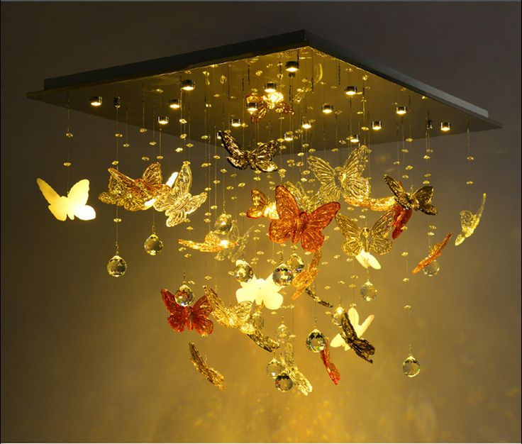 Living room modern minimalist LED Crystal Light rectangular butterfly restaurant atmosphere bedroom ceiling-in Ceiling Lights from Lights & Lighting on Aliexpress.com | Alibaba Group