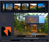 robinsonarchitects.com.au  wanted a stylish website that showcased their architectural pizazz