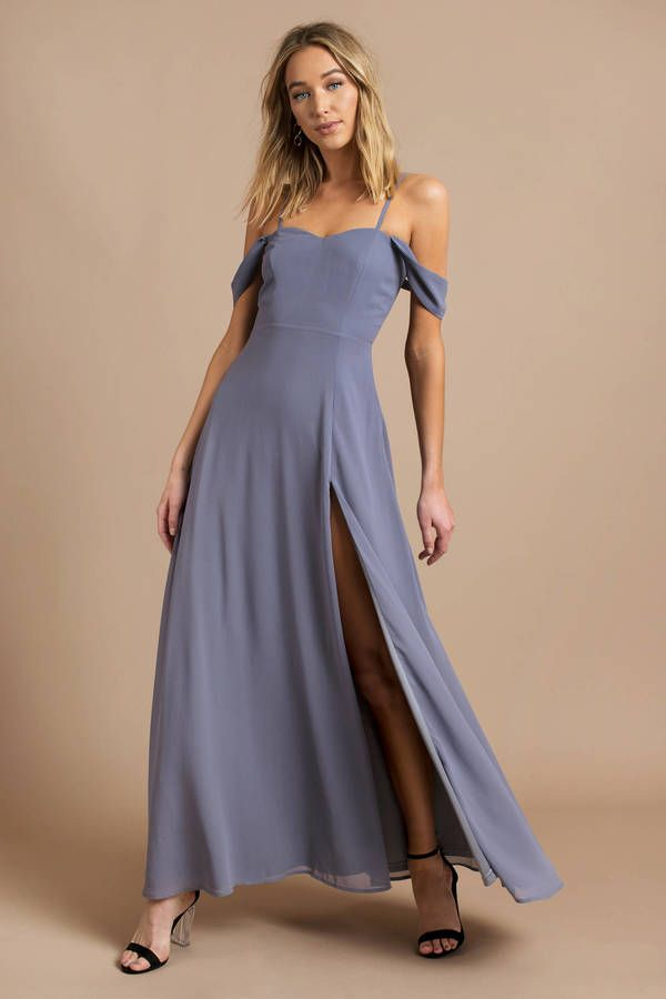 aa1118b67f Looking for the See You Again Slate Maxi Dress